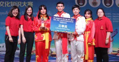 """สาขาภาษาจีนและภาษาอังกฤษเพื่อการสื่อสาร มรภ.เลย คว้ารางวัลในการแข่งขันวัฒนธรรมจีนระดับอุดมศึกษา ภาคตะวันออกเฉียงเหนือ ชิงถ้วยรางวัล """"เส้นทางสายไหม"""" ครั้งที่ 4"""